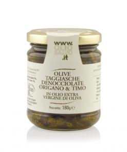olive taggiasche denocciolate origano e timo